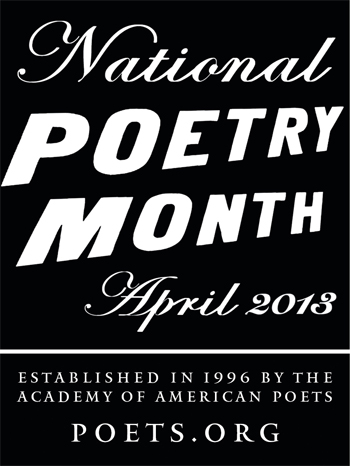 National Poetry Month logo, via poets.org